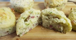 Muffins med pancetta og Parmigiano Reggiano