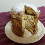 Panettone fyldt med mascarpone, ricotta og chokolade