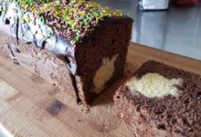 Chokoladekage med påskehare