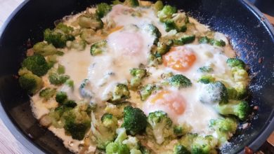 Photo of Bagt broccoli med æg og Parmigiano Reggiano