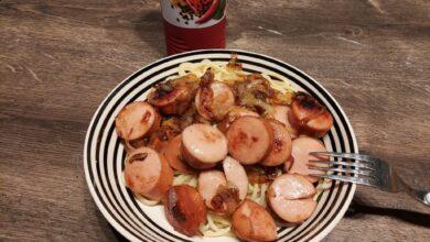 Spaghetti med pølsemix