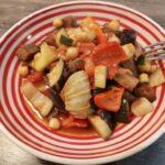 Ratatouille med kikærter og fennikel