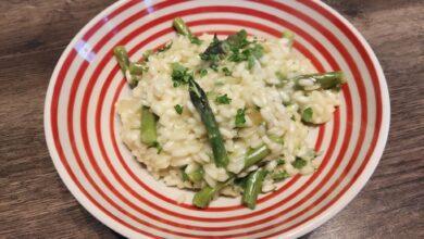 Risotto med grønne asparges