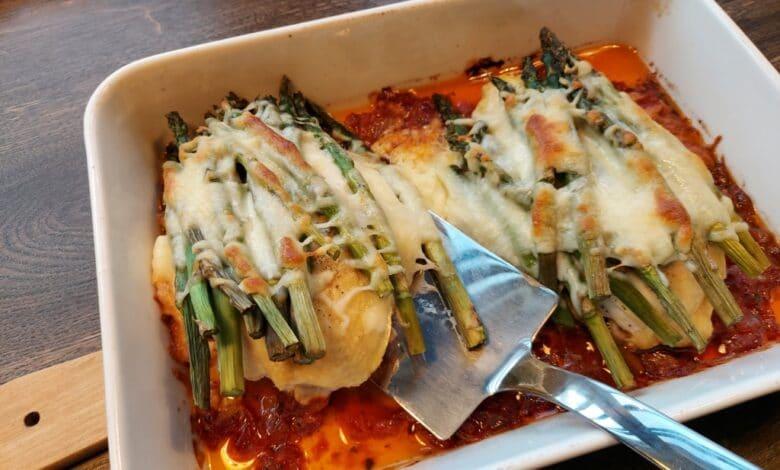 Kyllingefad med asparges