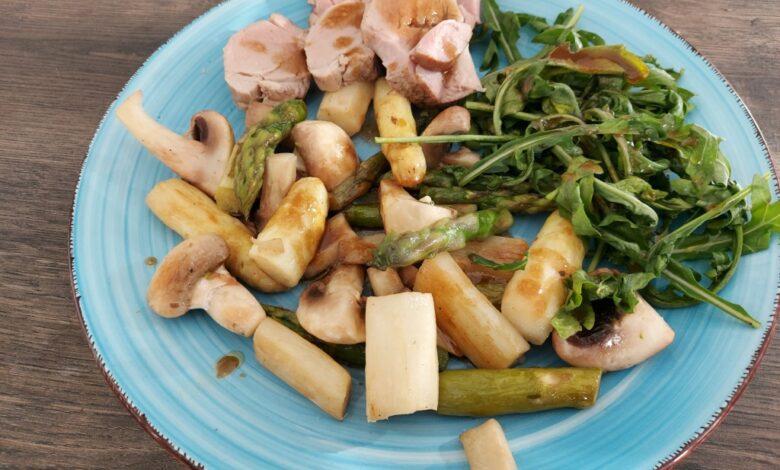 Svinemørbrad med asparges